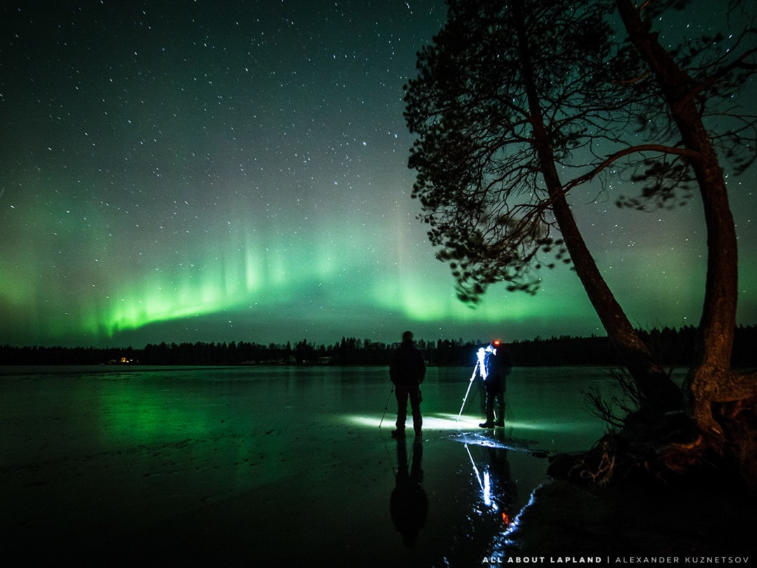 Northern Lights best spots in Rovaniemi Norvajärvi lake Lapland Finland by Alexander Kuznetsov Aurora Chasing.