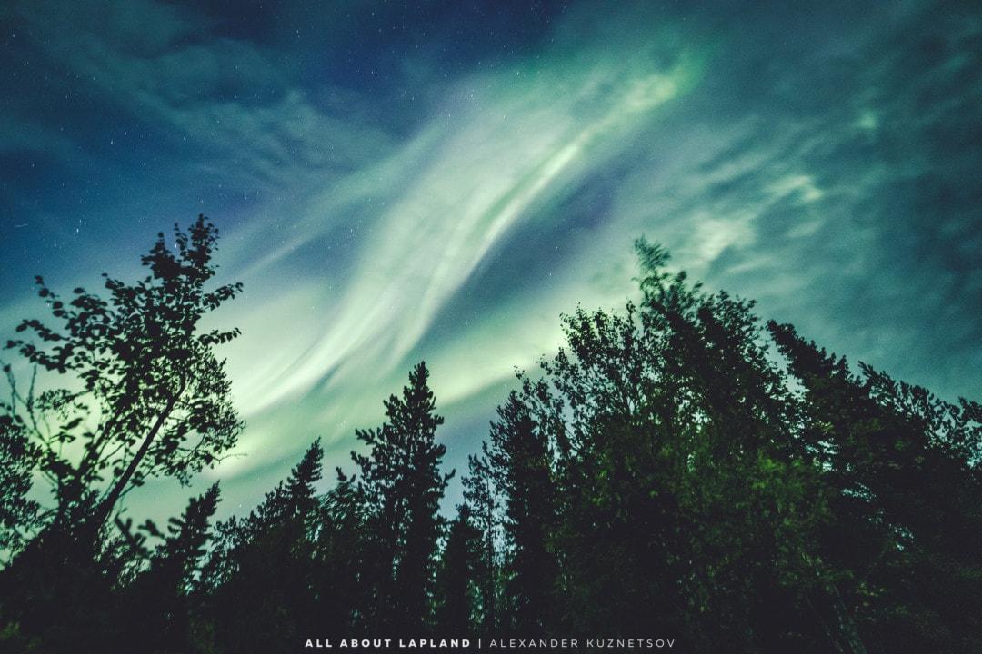 Huge aurora storm 1st September in Rovaniemi Lapland Finland.