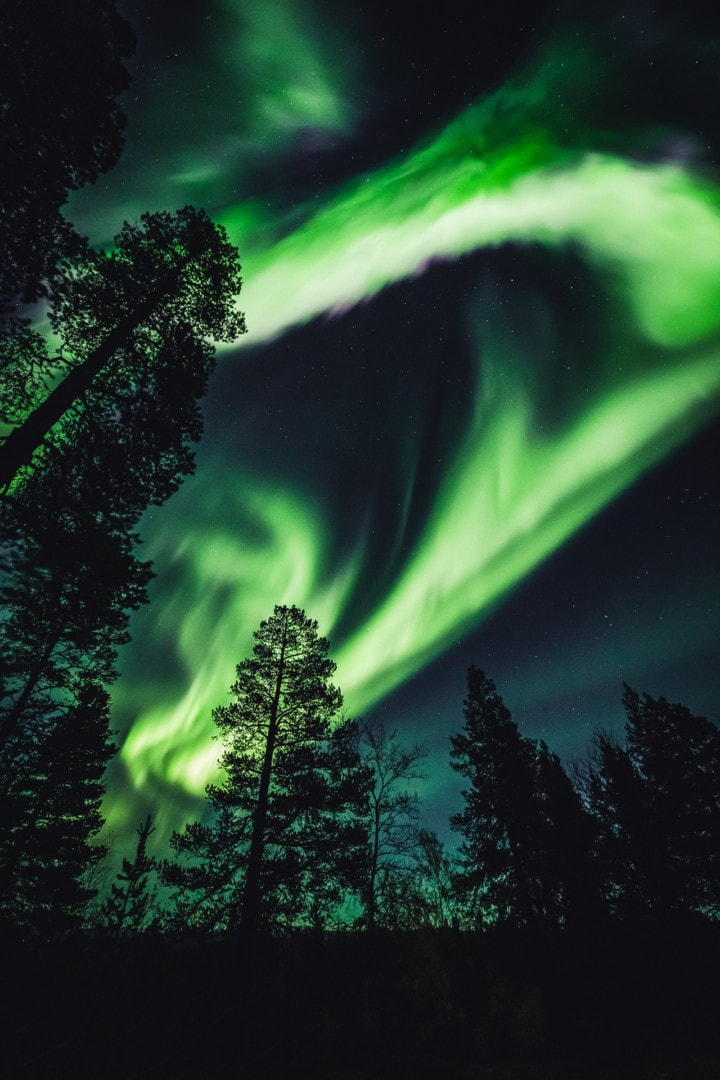 Amazing aurora storm! Northern Lights in ivalo Lapland Finland 27.09.2019. Photo by Alexander Kuznetsov / Aurora Hunting