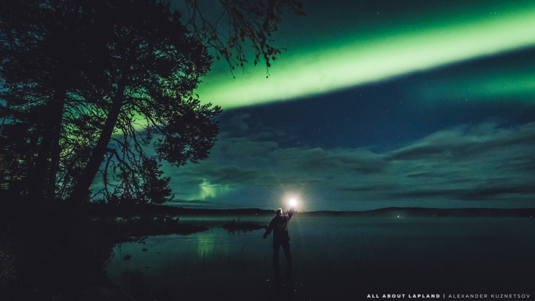 Seeing the northern lights in September in Rovaniemi Lapland Finland. Photo by Alexander Kuznetsov / Aurora Hunting.