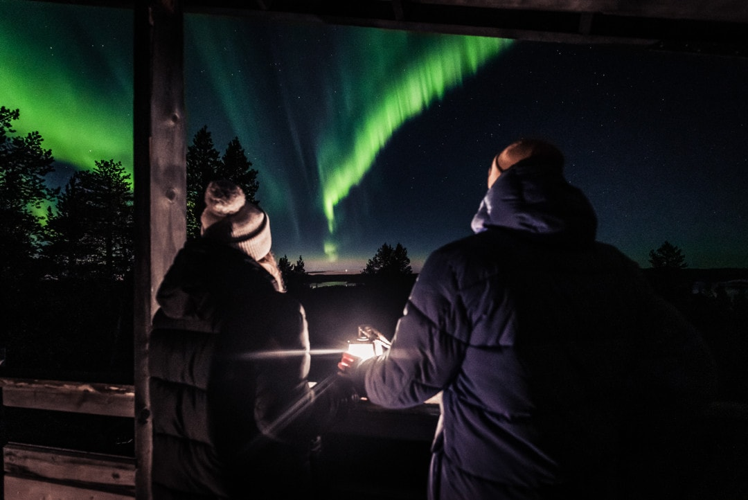 Seeing the Northern Lights in Inari ivalo Lapland Finland. Aurora Storm 27.09.2019. Photo by Alexander Kuznetsov / Aurora Hunting