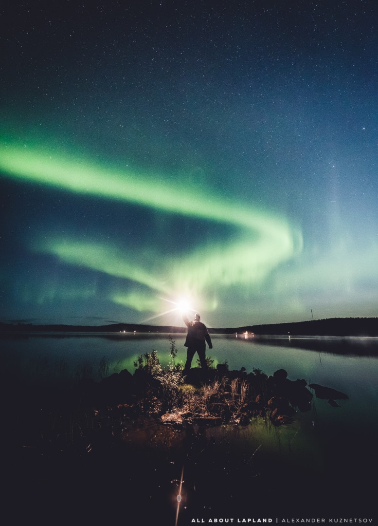 September is the best month to see northern lights because of high aurora activity Rovaniemi Lapland Finland