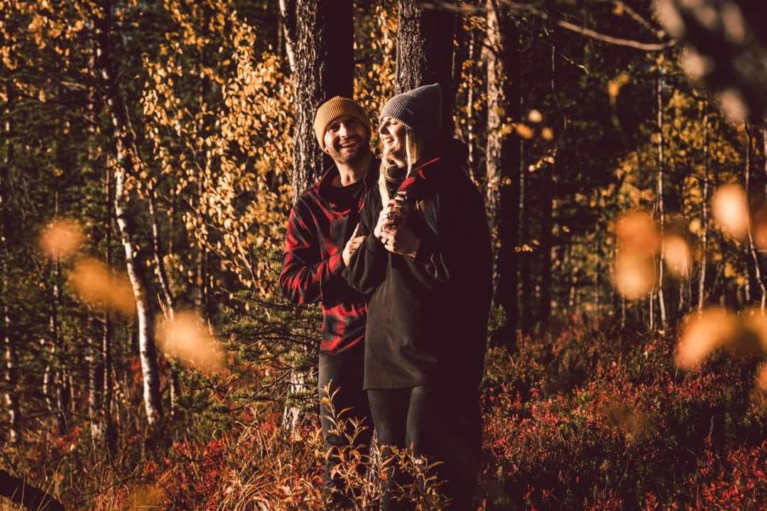 Enjoying autumn at Aurora Village Ivalo Lapland Finland.