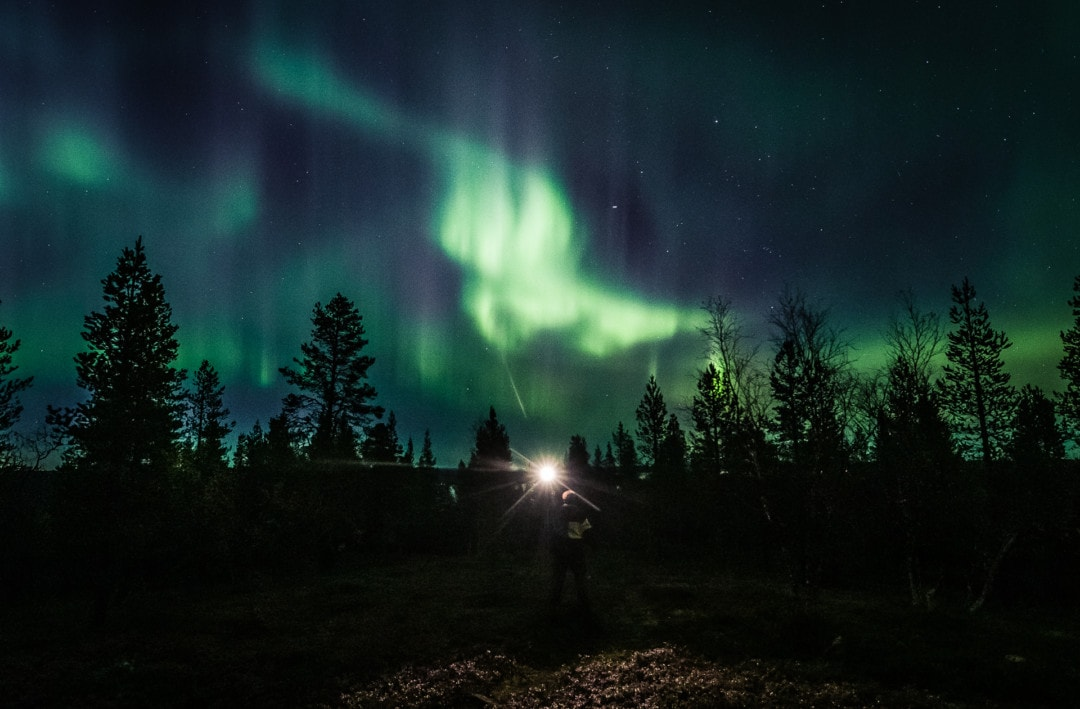 Powerful aurora storm 27.09.2019. Northern Lights in Ivalo Lapland Finland. Photo by Alexander Kuznetsov / Aurora Hunting
